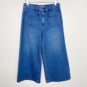 POINT SUR Wide Leg Crop Jeans 30 Retro Denim New